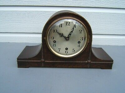 Mantel clock vintage Napoleon Hat Westminster chime UNO  German Hat1