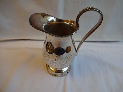 Beautiful Vintage Ornate Hand Engraved Silver Plated Made in England Milk Jug