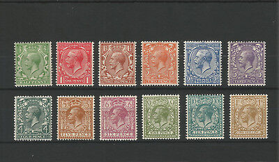 1924 Watermark Block Cypher set of 12 Very Fine Lightly Mounted Mint SG418-SG429