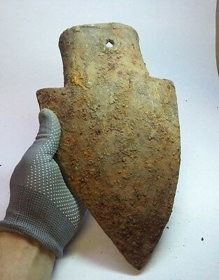 ANCIENT Authentic Medieval  Iron Tool Plow Shovel  10-12 century AD