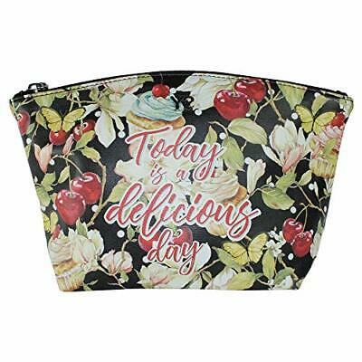 Y NOT? Beautybag M, strapazierfähiges Textilleder Delicious, Black