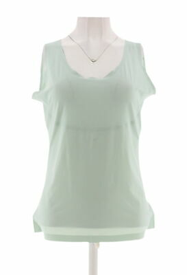 Spanx Trust Your Thinstincts Tank Top Seafoam Green M NEW A306088