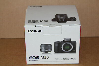 Canon EOS M50 Mirrorless Camera with EF-M 15-45mm f/3.5-6.3 IS STM Zoom Lens...