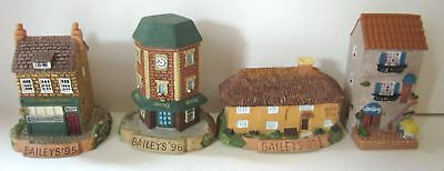 4 Excellent Bailey's Collectible Miniature Taverns '95 to '98