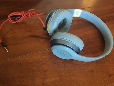 Beats by Dr. Dre Solo On-Ear Wired Headphones *AS IS* Light Blue Left Side Works
