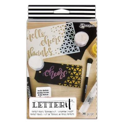 Ranger Letter It Perfect Pearls Technique Kit - Pearlescent Powders & Effects