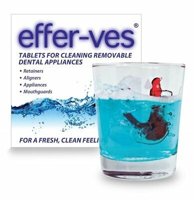 Effer-Ves  x 20 Tablets ~ Cleaning Retainer Braces Brite Clear Aligners ,