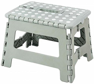 Excellent Houseware Small Folding Step Stool - 100 Kg Capacity Gray