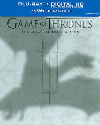 Game Of Thrones - The Complete Third Season (Blu ray Digital 2017) NEW SEALED