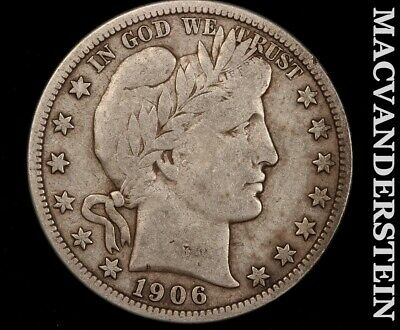 1906 Barber Half Dollar-Fine+!! Semi Key Better Date!!  #f8220