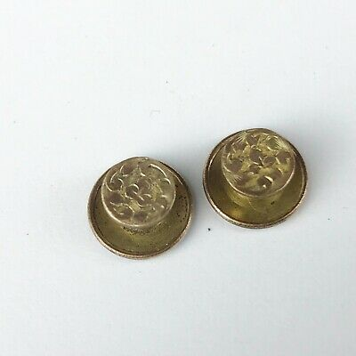 Antique Victorian 9Ct Gold Front Pair Of Collar Studs Stud 2