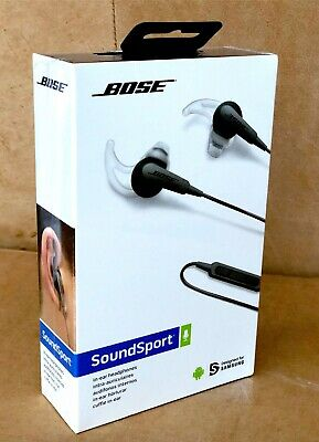 BOSE SoundSport In-Ear Headphones for Samsung/Android Charcoal Grey NEW