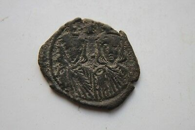 ANCIENT BYZANTINE LEO IV BRONZE FOLLIS COIN 8th CENTURY AD