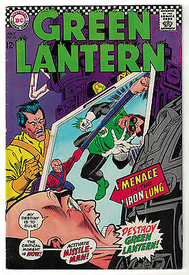DC Comics GREEN LANTERN Issue 54 Menace In The Iron Lung! VF-