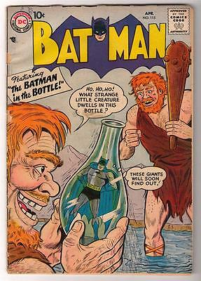 DC Comics BATMAN silver age #115 3.5  VG- 1958 IN A BOTTLE