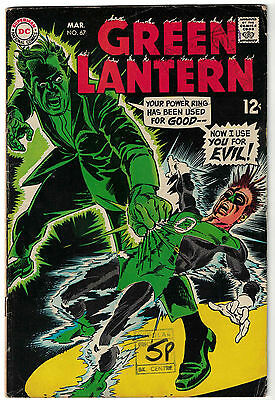 DC Comics GREEN LANTERN Issue 67 Now I Use You For Evil! VG+