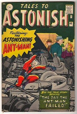 Marvel TALES TO ASTONISH 40 FN+ pence Mid high grade GIANT MAN AVENGERS
