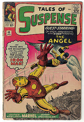 Marvel Comics TALES OF SUSPENSE Issue 49 Guest Starring The Angel! GD+