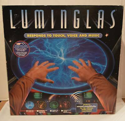 """LUMINGLAS 20"""" Lightning Plasma Light Glass Disk Sound Touch Activated BLUE Boxed"""