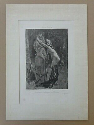 FELICIEN ROPS (1833-1898) / CURIEUSE FRONTISPICE / HELIOGRAVURE / 50x35cm