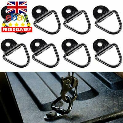 8 X Audew V Rings Hook Tie Down Ring Load Anchor Trailer Forged Lashing Truck UK
