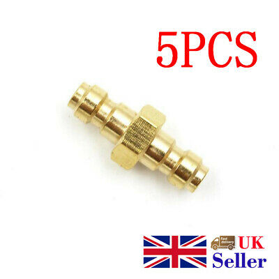 5PCS Quick Adapter Dual Male To Male Fill Nipple Adaptor Foster Paintball Tank