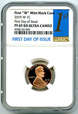 2019 W Lincoln Penny Ngc Pf69 First Day Issue Proof Cent W/ Us Mint Env & Insert