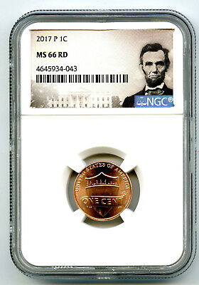 2017 P Us Mint Cent Union Shield Ngc Ms66 Rd Lincoln Label Super High Grade