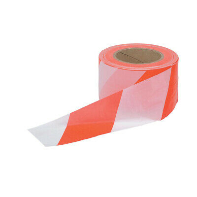 Red and White Polythene Barrier Tape and Dispenser 72mm x 500m