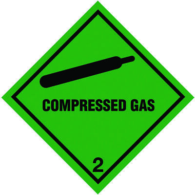 Magnetic Compressed Gas Sign - 100mm x 100mm