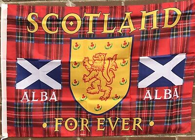 SCOTLAND THE BRAVE FLAG SIZE APPROX. 60X90Scottish St Andrews Cross Lion Rampant