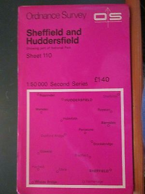 Ordnance Survey map 1:50 000 2nd Series  No 110 Sheffield and Huddersfield 1977