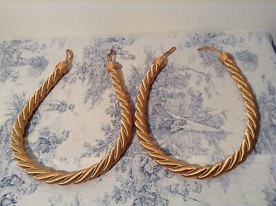 Vintage French Silk Rope Twist Tassel Curtain Tie Backs - Passementerie (P35)