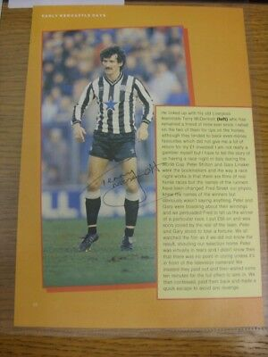 1983/1984 Autograph(s): Newcastle United - McDermott, Terry [Hand Signed Colour