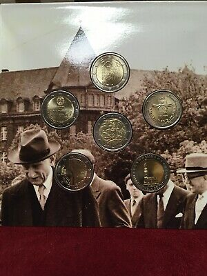 Coffret Bu 2 Euro De 6 Pieces 2008 Commemorative