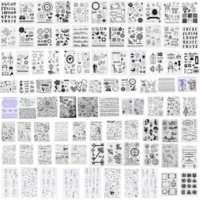Silicone Clear Stamps Seal Transparent Rubber Stamps DIY Scrapbooking Christmas