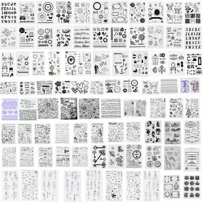 Silicone Clearly Stamp Transparent Rubber Stamps DIY Scrapbook Handcraft