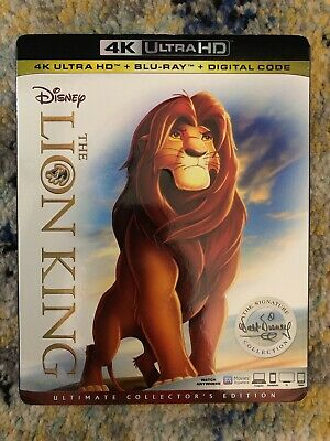 The Lion King (4k Ultra HD/Blu-ray) Includes Slipcover, No Digital Code