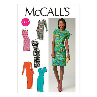 b3b9c673d91ac McCall's 6886 Sewing Pattern to MAKE Easy Misses' Knit Pullover Dresses