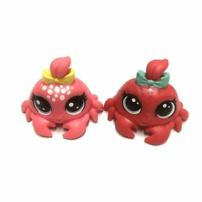 Lot 2X LPS Littlest Pet Shop Crab Animal Hasbro Mini Figure Kid Toy Doll Gifts