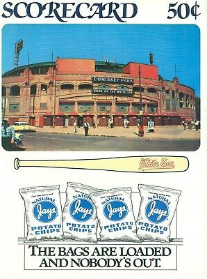 1990 Chicago White Sox vs Brewers Comiskey Park Scorecard Jays Old Style clean