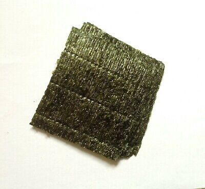 "25 Sheets dried Nori seaweed. Marine fish food. Approx 4""x4"""