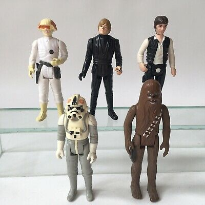 Vintage Kenner Star Wars Action Figure Job Lot Han Solo Luke CCP Chewbacca AT AT