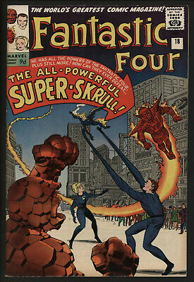 Fantastic Four #18. First Appearance Super-Skrull. Investment Comic