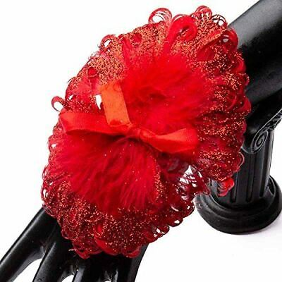 Sparkling Red Feather Wrist Corsages | 6 Corsages