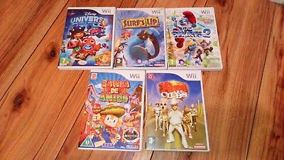 Smaba Amigo Disney Universe Smurfs 2 Surfs Up King Clubs Game Nintendo Wii Kids