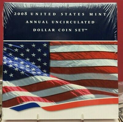2008 United States Mint Annual Uncirculated Dollar Coin Set Bin Free Shipping