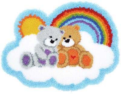 Care Bears Latch Hook Kit  Rug Making Kit 70x53cm By Vervaco Inc tool & binding