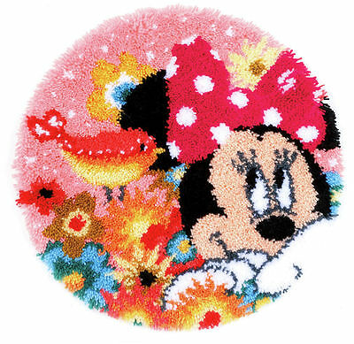 Minnie Mouse Latch Hook Kit Rug Making Kit Licensed By Disney, by Vervaco