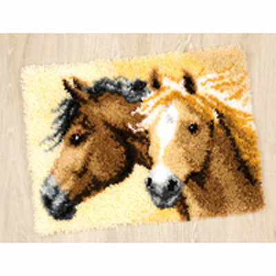 "Wild Ponies Wild Horses Latch Hook kit Vervaco 20x16"" latch hook canvas inc tool"